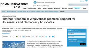 Article: Internet Freedom in West Africa