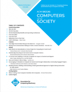Computers and Society 49(1) February, 2020 is Available
