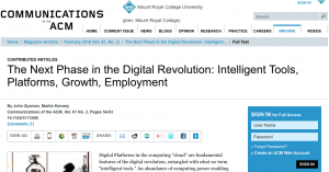 Article: The Next Phase in the Digital Revolution